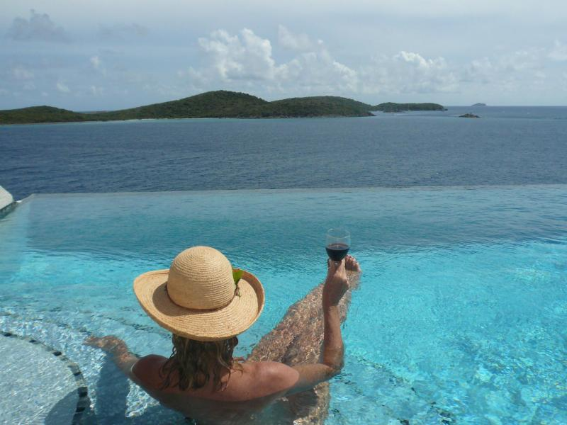 Relaxing-- where the Pool meets the Caribbean - Waterfront Luxury 5 Bedroom Villa Sleeps up to 14 - Cabrita Point - rentals