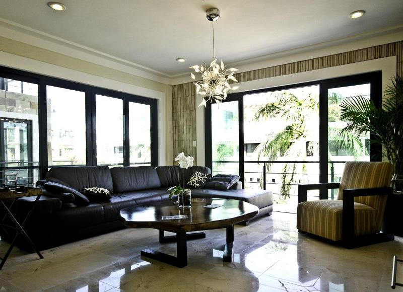 "Living room - ""Lotus 5"" Amazing 2 bdr condo 2 blocks from the sea - Playa del Carmen - rentals"