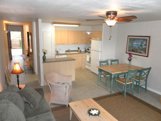 Living Room - Neat & Clean 1br Turtle Bay Condo $99 thru Sept! - Kahuku - rentals