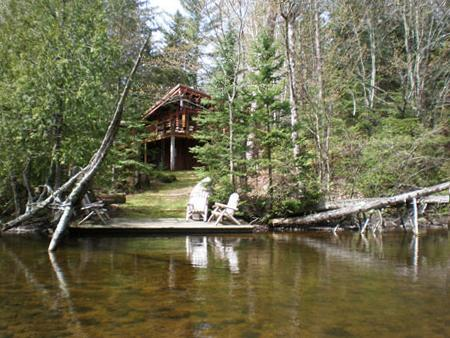House from dock - Secluded Brule River, Wisconsin, three BR lodge - Brule - rentals