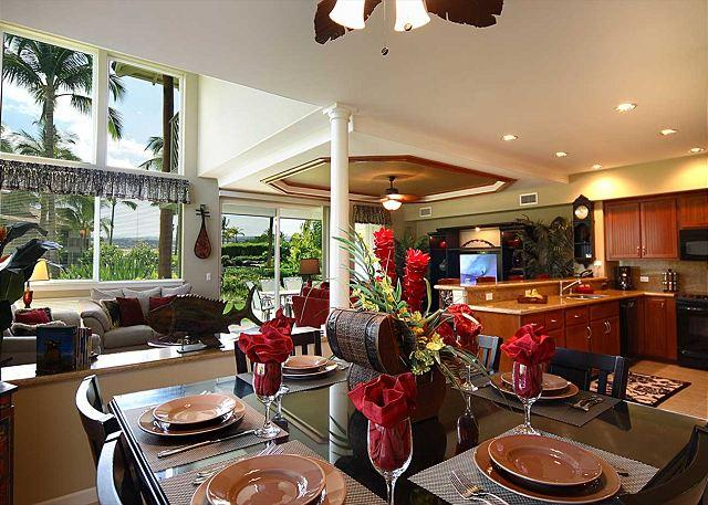 Dining Area - SUMMER SPECIAL 7th NIGHT FREE - 5 Star Rating! Deluxe Poolside Townhome! - Waikoloa - rentals