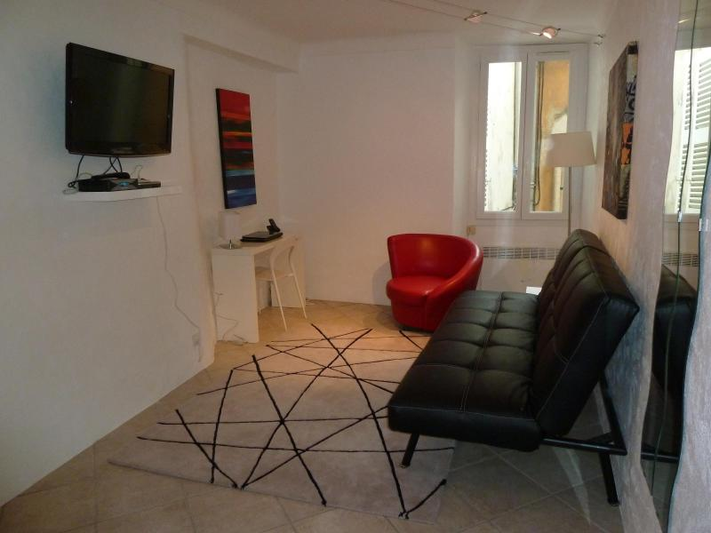 Living Room - 1 Bedroom Apartment in the Heart of the Suquet - Cannes - rentals