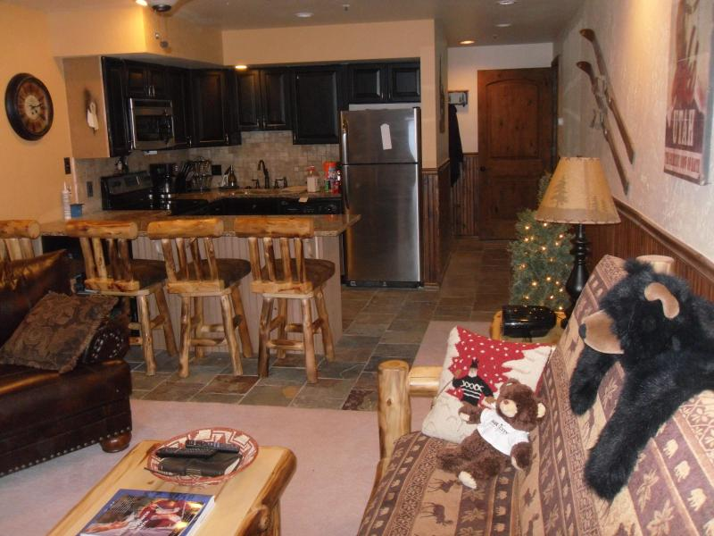 Large Living Room and Kitchen with highest of quality furnishings and kitchen supplies - Luxury Ski in/Out Condo at Park City Mt. Resort - Park City - rentals