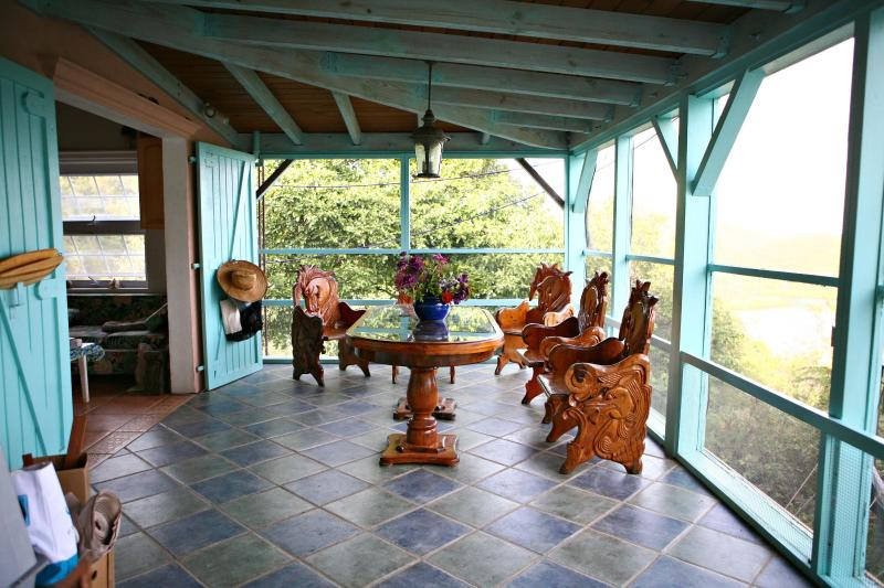 Porch - Honeymoon Hikers Cottage- Coral Bay,USVI- St. John - Coral Bay - rentals