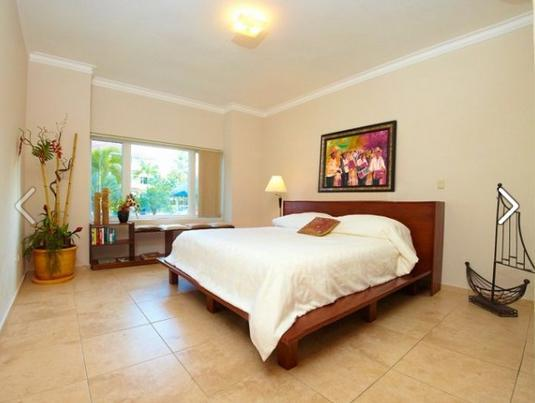 King bed in the Master Bedroom - 2 Bed/ground floor Ocean Dream - Walk Everywhere! - Cabarete - rentals