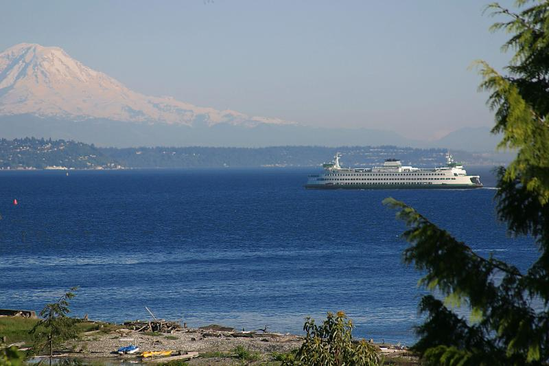 Mount Rainier view from your suite - De-luxe beach, private 1 bdrm suite near downtown - Bainbridge Island - rentals