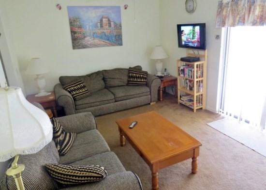 Living room with flat screen cable TV, wifi - Affordable Home with Private Pool - Kissimmee - rentals