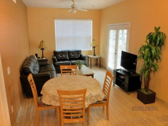colorful walls, leather furniture, tile floors - Cute and Cozy Venetian Bay Vacation Rental Townhome Just 6 Miles to Disney - Kissimmee - rentals