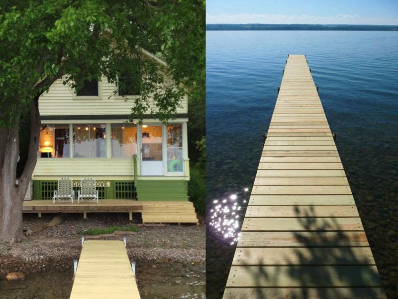 Cozy Cove Cottage...feel the summer breeze from our newly built deck! - Cozy Cove Cottage Lakeside on Cayuga Lake NY - Seneca Falls - rentals