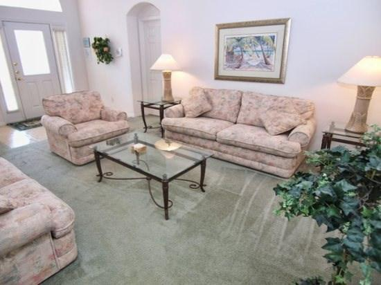 Living Area - OT4P16249EHS 4 BR Spacious Pool Home near Walt Disney - Clermont - rentals