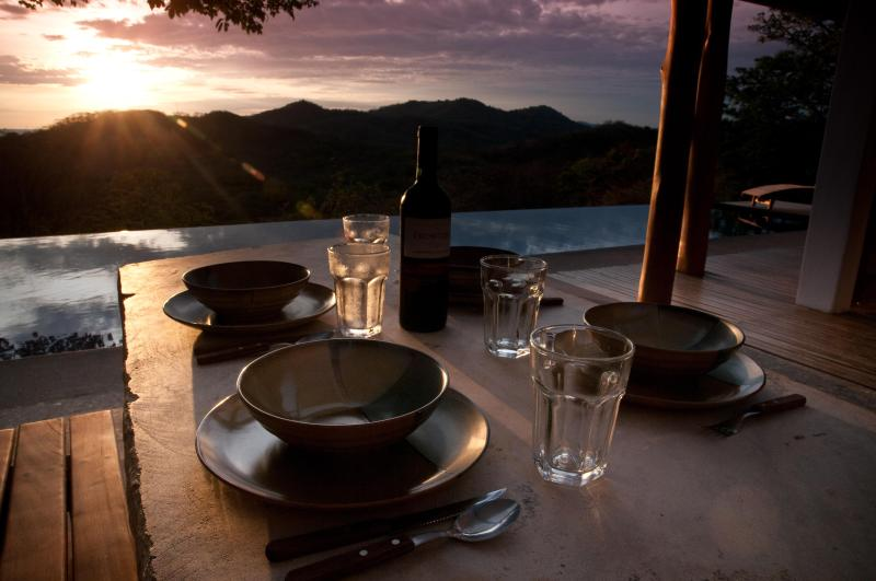 Sunset from your dinner space - Casa Francesca- Relax, Romance, Recharge - San Juan del Sur - rentals