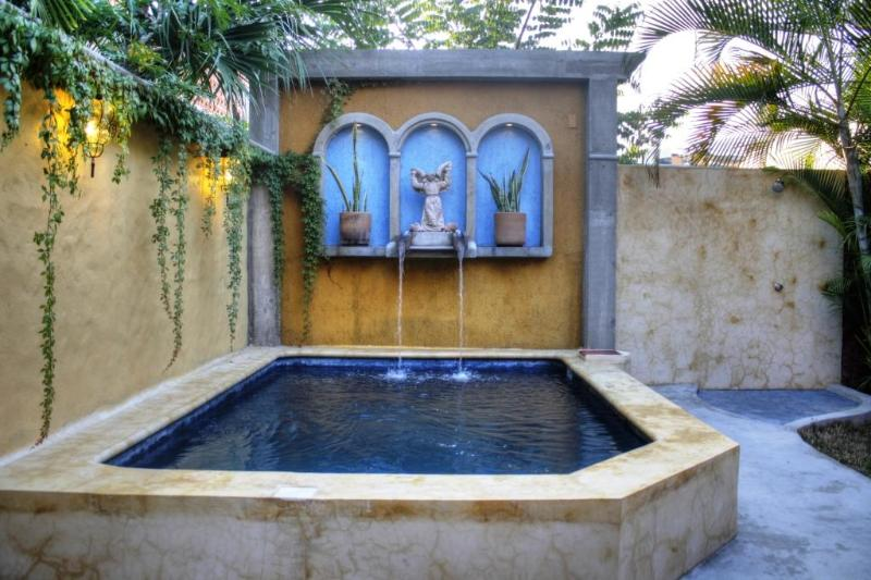 Our 9' x 12' dipping pool & outdoor shower area - Charming Casita w/Pool in the Heart of San Pancho! - San Pancho - rentals