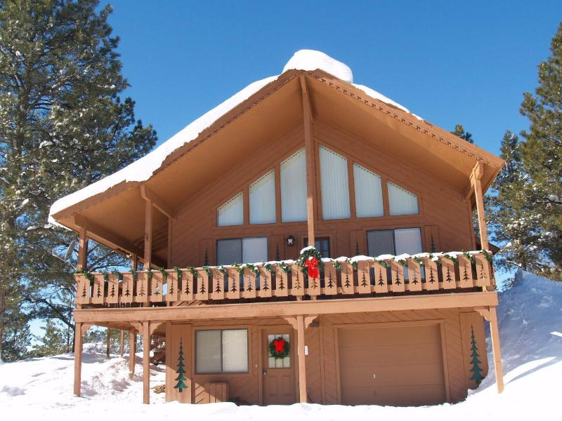 Mountain Majesty Chalet in Winter - Mountain Chalet Sleeps 12, AC, Hot Tub,  big views - Pagosa Springs - rentals