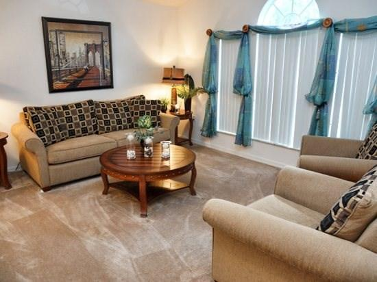 Living Area - LPHP3P274HPB Modern 3 Bedroom Home with Internet and Games Room - Davenport - rentals