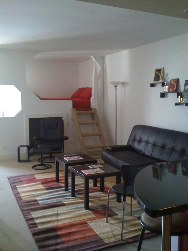 Living Room Area with Lofted Bed - Direct Ocean View Studio - Miami Beach - rentals