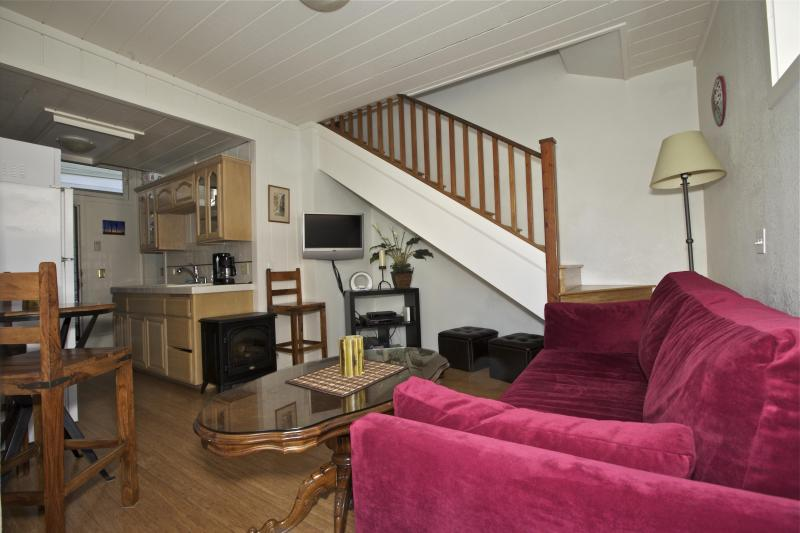 Living Room with Deluxe Sleeper Couch - Cosy Cottage By the Beach - 2 Bed - BBQ / Parking - Venice Beach - rentals