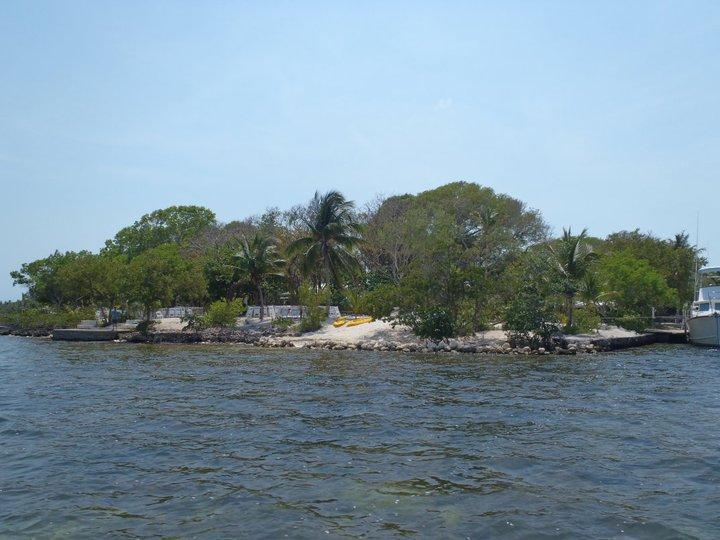 View from Water of Property - Oceanfront- Beach- Historic 2 Houses on 2.5 Acres - Key Largo - rentals