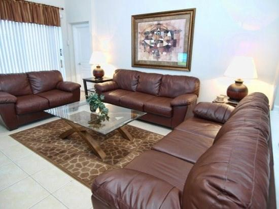 Living Area - WH5P2542HS 5 Bedroom 5 Bath Luxury Pool Home Near Dining Options - Kissimmee - rentals