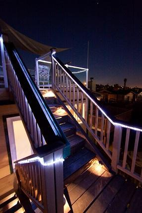 Stairs to the 3rd story - Nightly Spectacular View of Sea World Fireworks - Mission Beach - rentals
