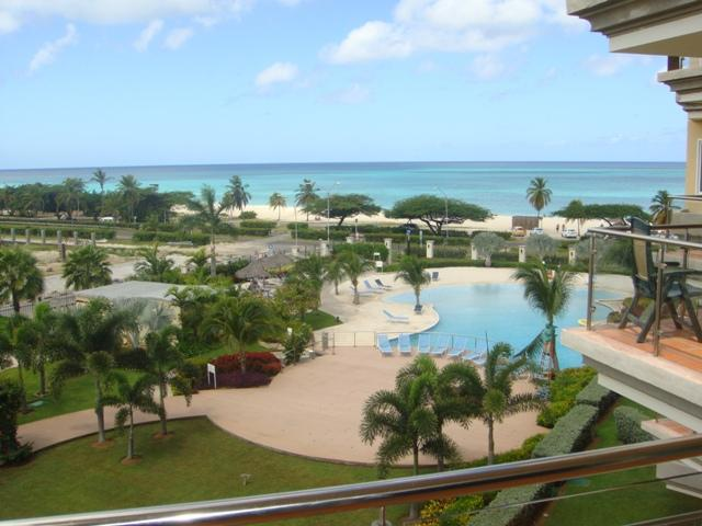 This is the glamorous ocean view from your balcony! - Glamour View Studio condo - E422-1 - Eagle Beach - rentals