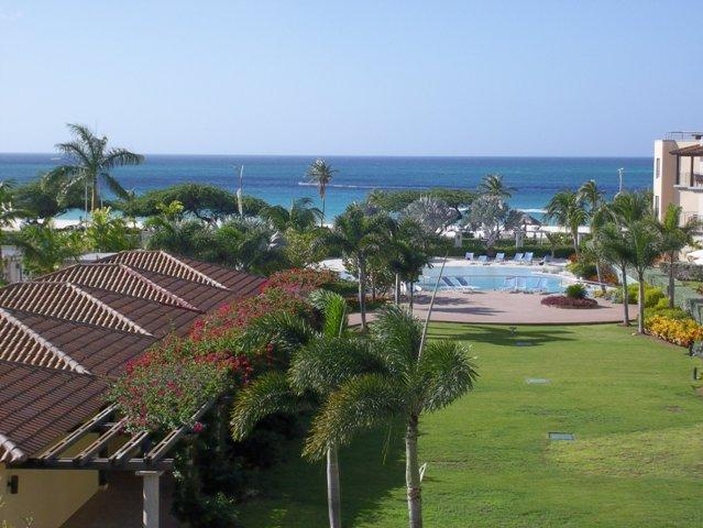 Your magnificent ocean view from your breezy balcony! - Ocean Breeze Two-bedroom condo - P313 - Eagle Beach - rentals