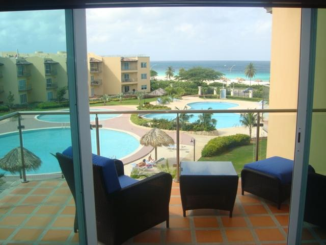 Beautiful ocean view from your balcony & living room - Precious Ruby Two-bedroom condo - BC355 - Eagle Beach - rentals
