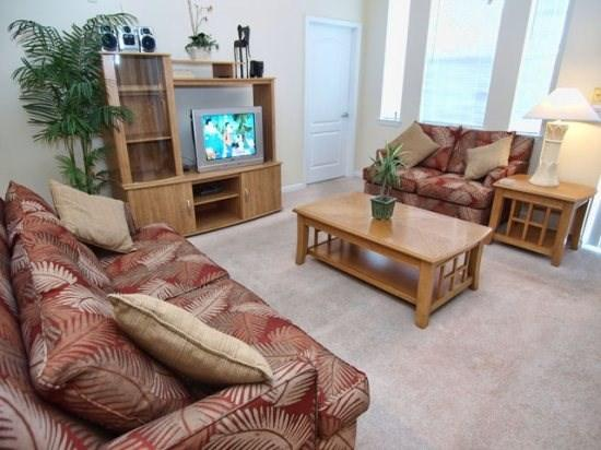 Living Area - CI3C5252CIL-304 3 Bedroom Resort Style Condo with a View - Kissimmee - rentals