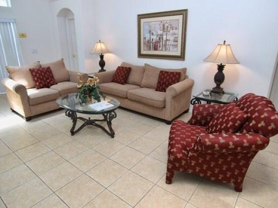 Living Area - S5P161SA 5 Bedroom Cozy Pool Home with Modern Interiors - Davenport - rentals