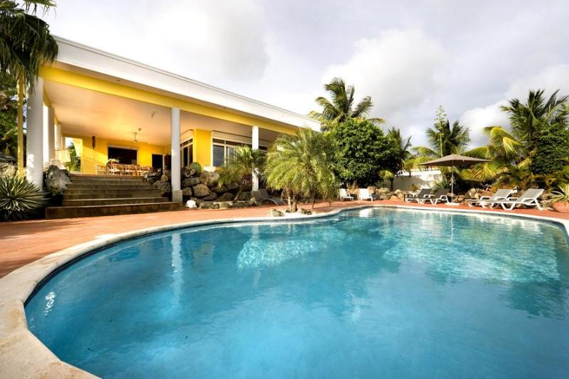 Amazing private pool in back yard - Luxury Villa with own Pool 300 yrds from  Beach - Curacao - rentals