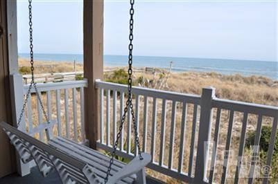 View from deck - GET AWAY FROM IT ALL Private Oceanfront 2 BR Condo - Carolina Beach - rentals