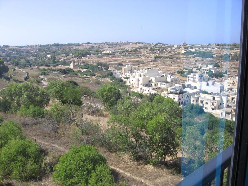 View from Kitchen/Dining room - Modern 3 bedroom apartment with Country Views + WIFI - Marsascala - rentals