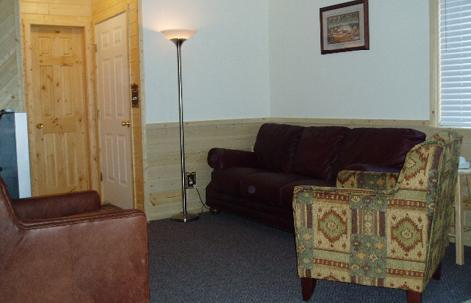 living room is small but cozy - Cabin 128 - Trout Lake - West Yellowstone - rentals