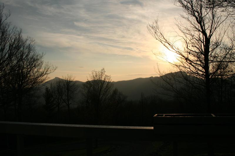 Sun rise around 6:30 AM from deck - Magnificent view, clean, safe and relaxing - Sugar Mountain - rentals