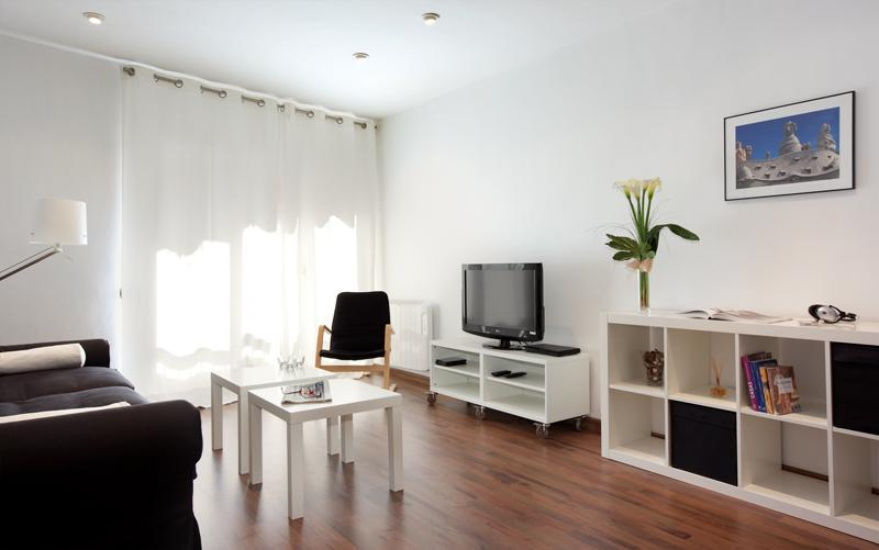 Living room - Lesseps apartment - Barcelona - rentals