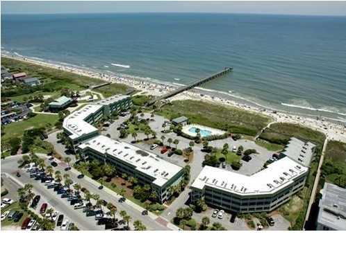 Aerial View of Sea Cabins and Private Pier - Absolutely Beachfront, Top Floor! w/Free Internet and Netflix! - Isle of Palms - rentals