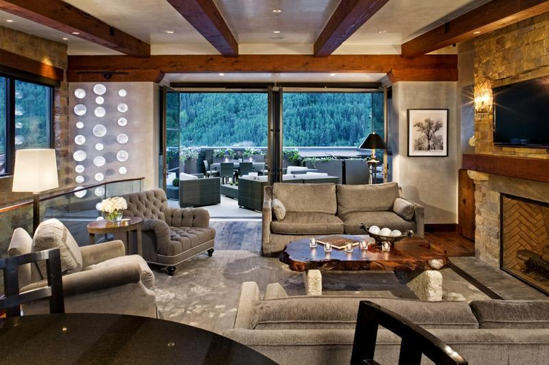 The penthouse great room is spacious, comfortable and beautiful. - Stunning 3 Bdrm, 3 Bath Penthouse In Telluride, Co - Telluride - rentals