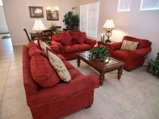 Family Room - TH4P855THB 4 Bedroom Pool Home with Wireless High-Speed Internet - Davenport - rentals