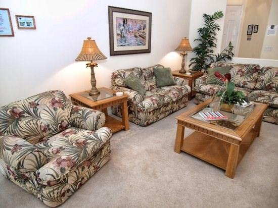 Family Room - TH3P658BD 3BR Villa Just 7.8 miles Drive to Disney - Davenport - rentals