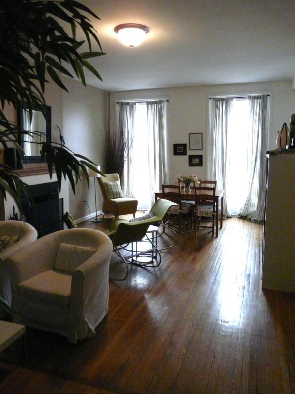 Deco on Green Living Room - Fort Greene Historic Landmark - Brooklyn - rentals