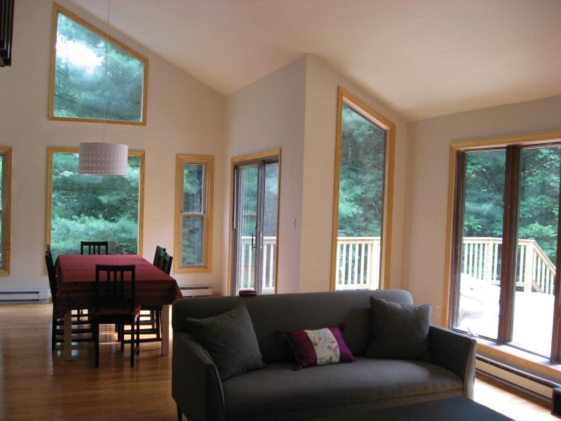 Living room and dining room - Delaware River Retreat - Narrowsburg - rentals