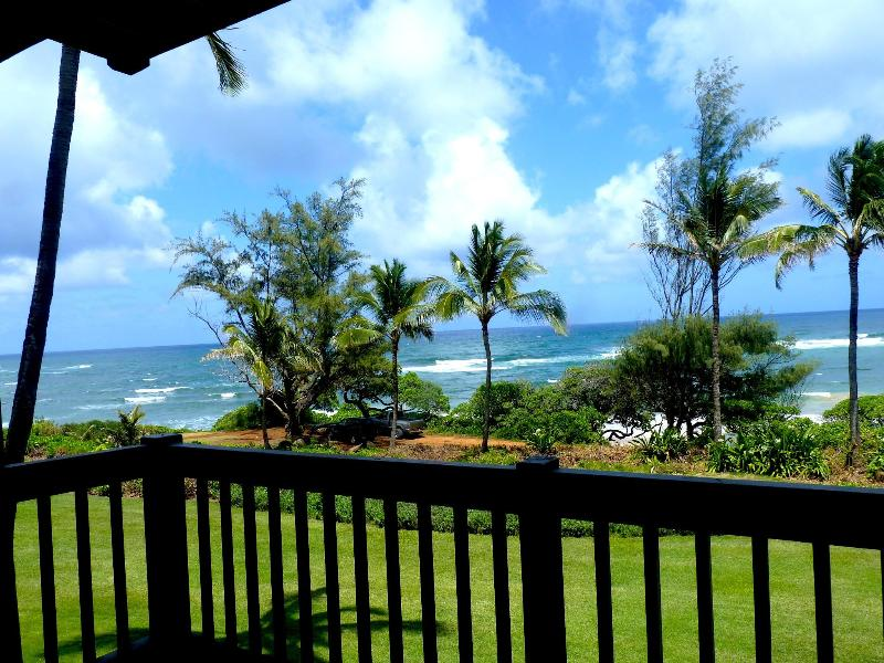 Watch the sunrise while sipping tea or having your first cup of coffee. - Beautiful Oceanfront, Kaha Lani 223, Kapaa Kauai - Kapaa - rentals