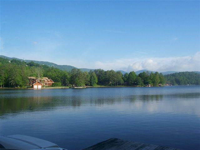 View from our dock - Lakefront home in mountains of WNC! - Lake Toxaway - rentals