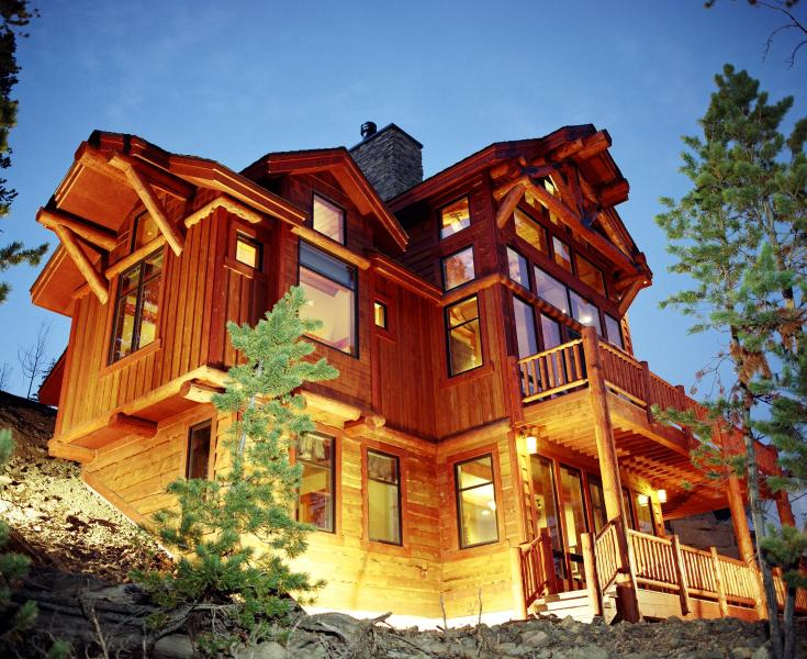 This gorgeous home takes full advantage of the mountain setting. - Cascade Ridge- Big Sky - Luxury Rental with Pool - Big Sky - rentals
