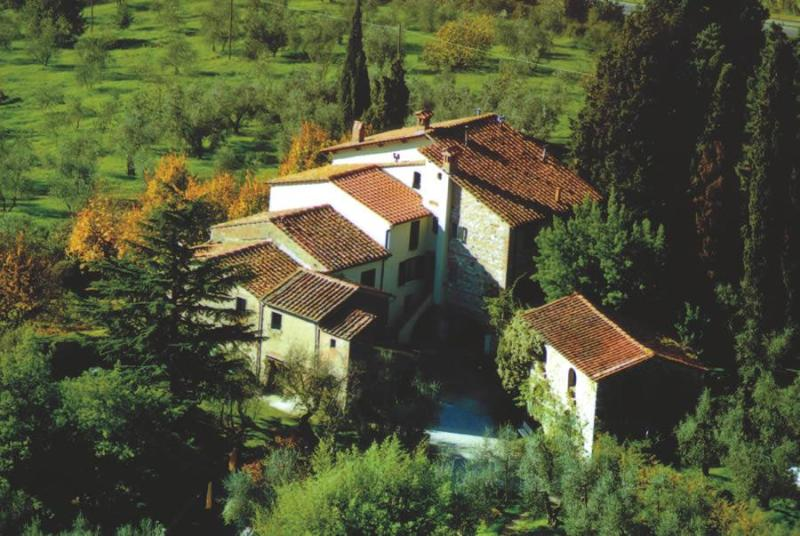 View from the air - Friendly Farmhouse with panoramic pool in Tuscany - Serravalle Pistoiese - rentals