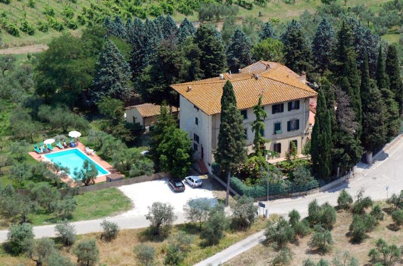 aereal view - Villa I Leoni close to Florence - 1 km to village - Montespertoli - rentals
