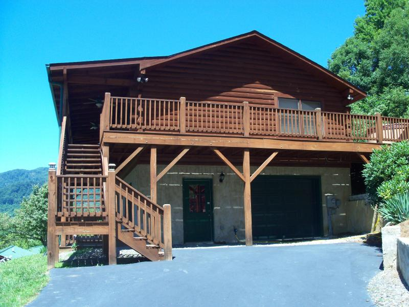 """Cabin from the driveway - """"Almost Heaven"""" Call for last minute specials - Maggie Valley - rentals"""