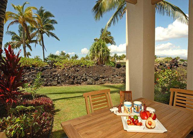 Downstairs lanai - FALL SPECIAL - 5TH NIGHT FREE  -  Beautiful Loaded Townhome! - Waikoloa - rentals
