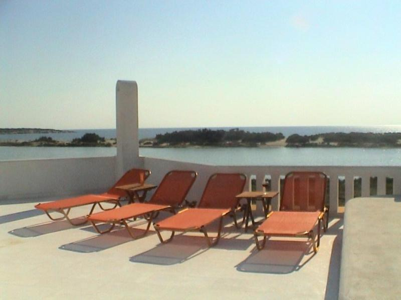 View from roof terrace - Naxos Waterfront Villa with Pool and Panorama View - Naxos - rentals