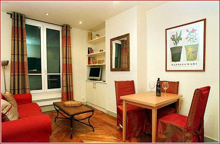 Living/dinning room - Paris luxury 2 BR apartment by Musee d'Orsay - Paris - rentals
