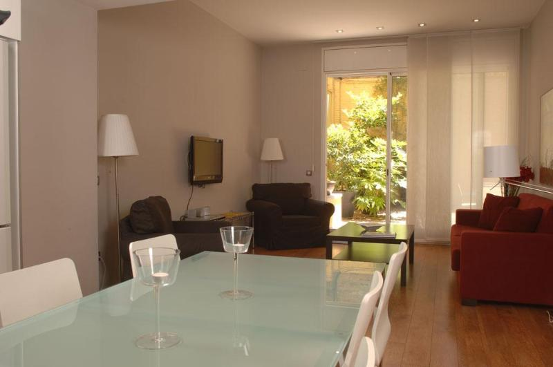Living Room - Passeig de Gracia - 1 bedroom with Private patio - Barcelona - rentals